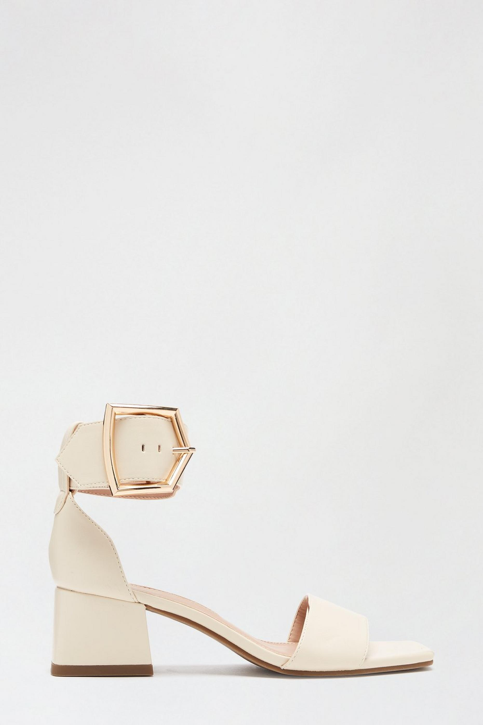 White Saga Heeled Sandal