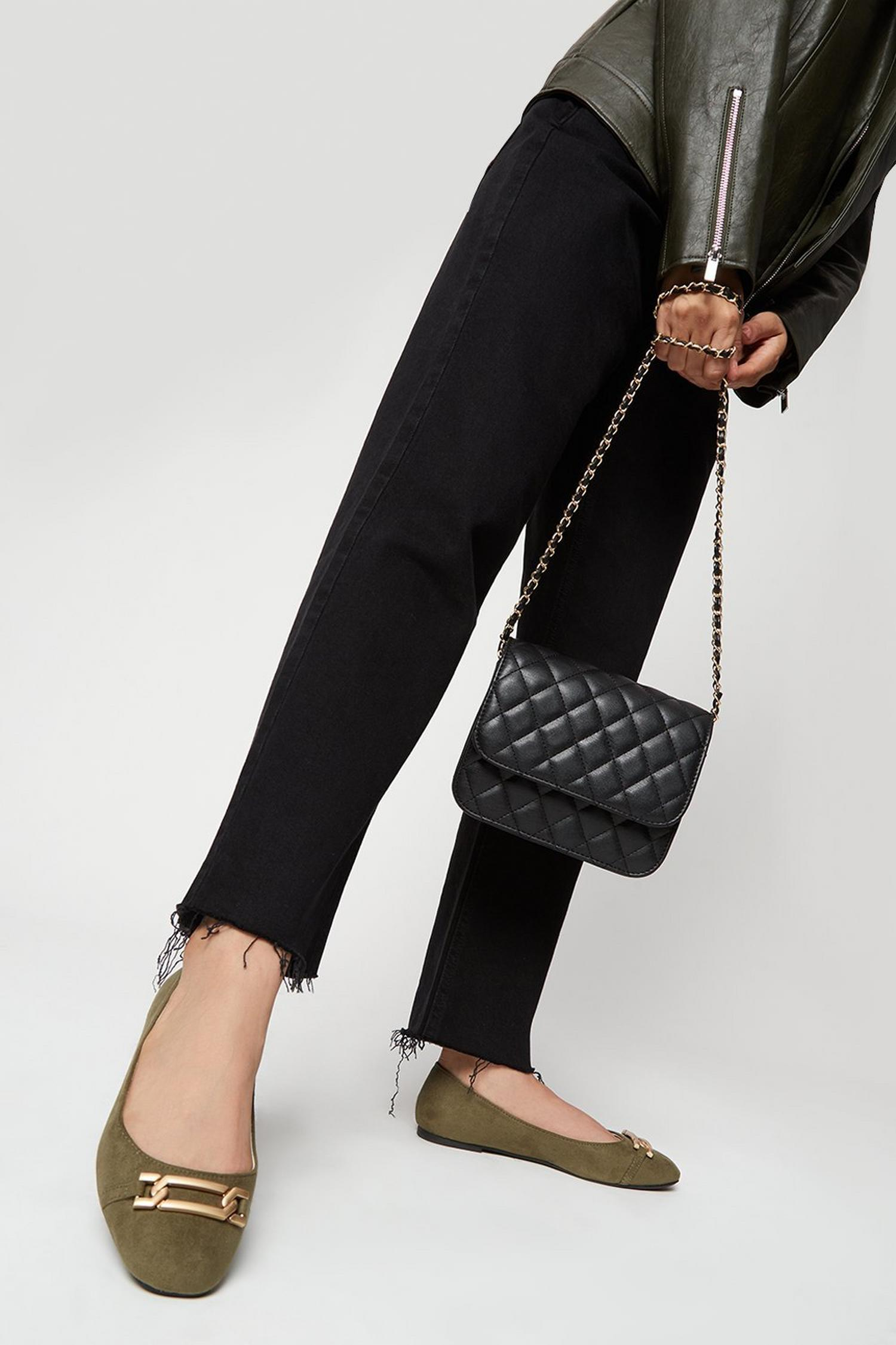 511 Wide Fit Olive Pinch Pumps image number 1