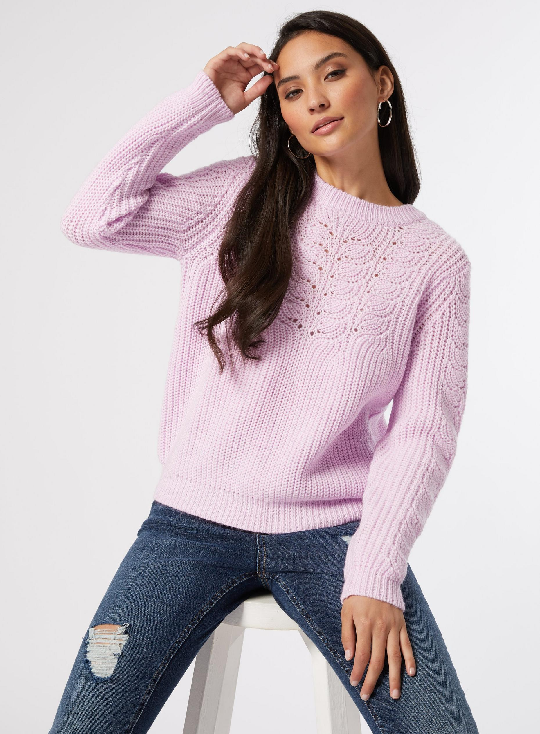 Petite Lilac Pointelle Jumper