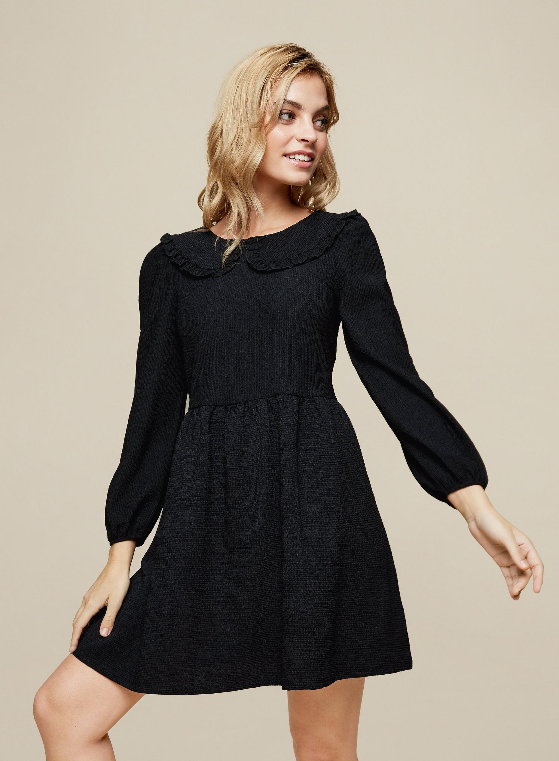 DP Petite Black Fit and Flare Dress