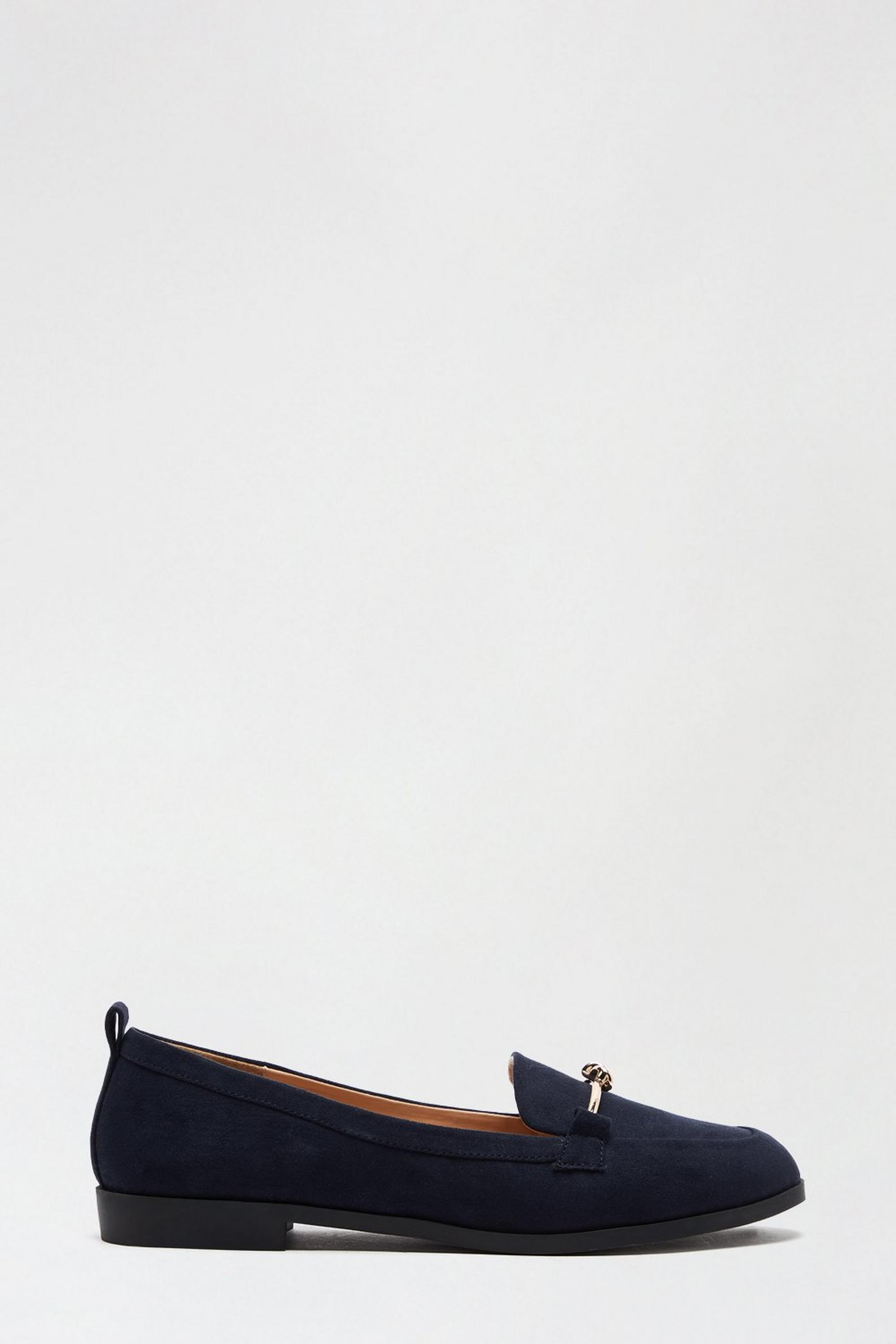 Wide Fit Navy Loom Loafer