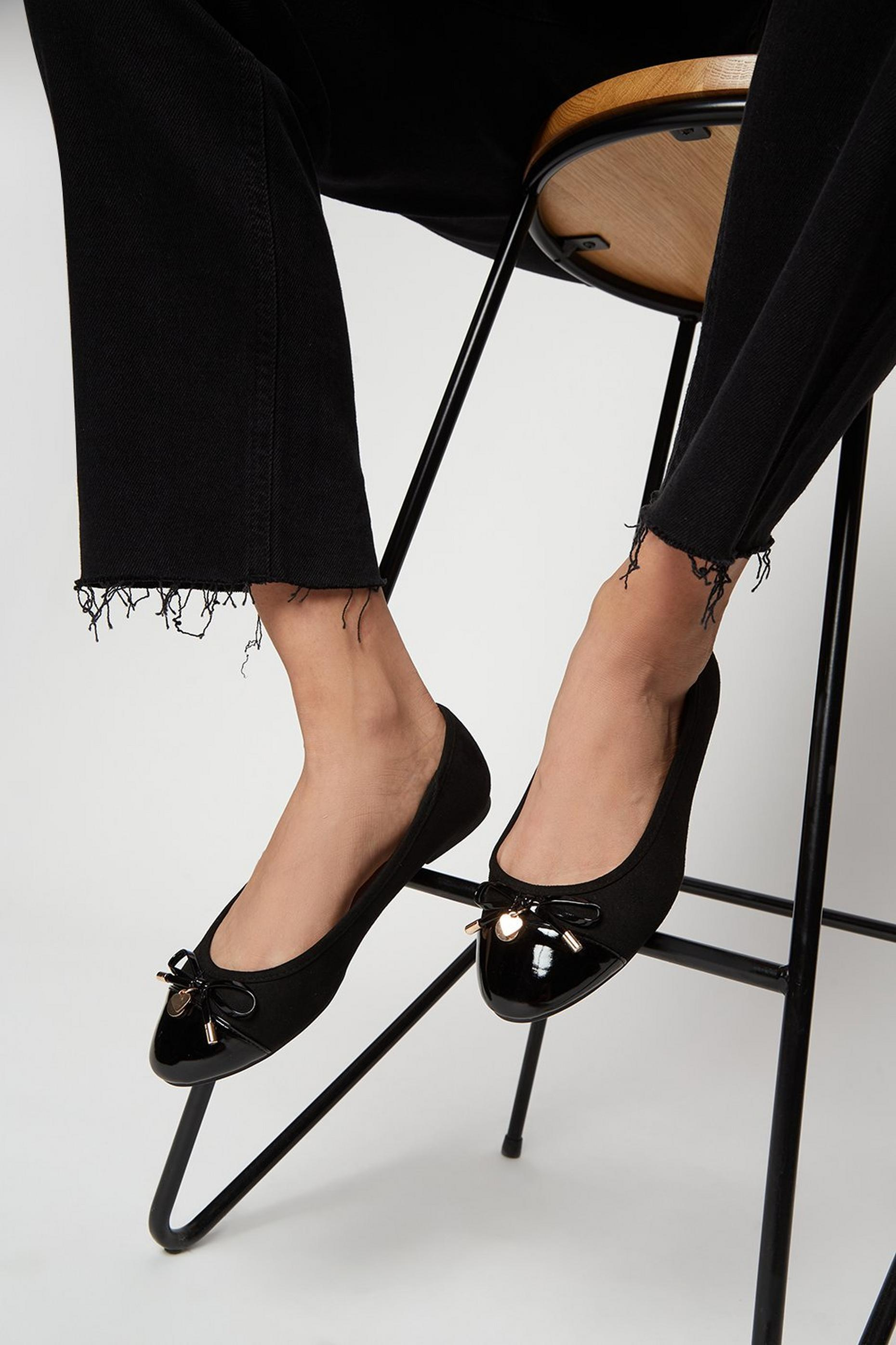 Wide Fit Black Pacific Ballerina Pumps