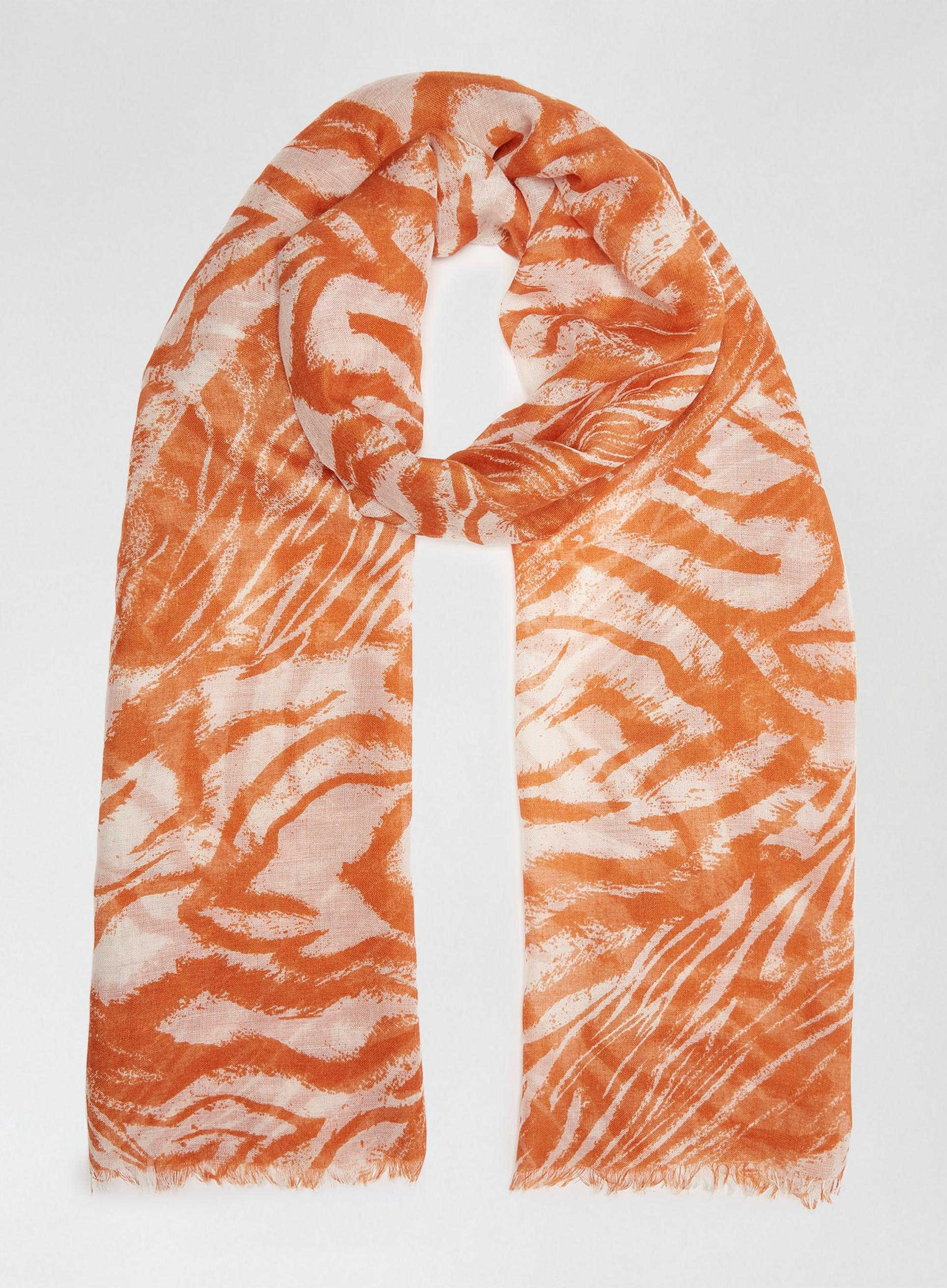 Orange Tiger Lightweight Scarf