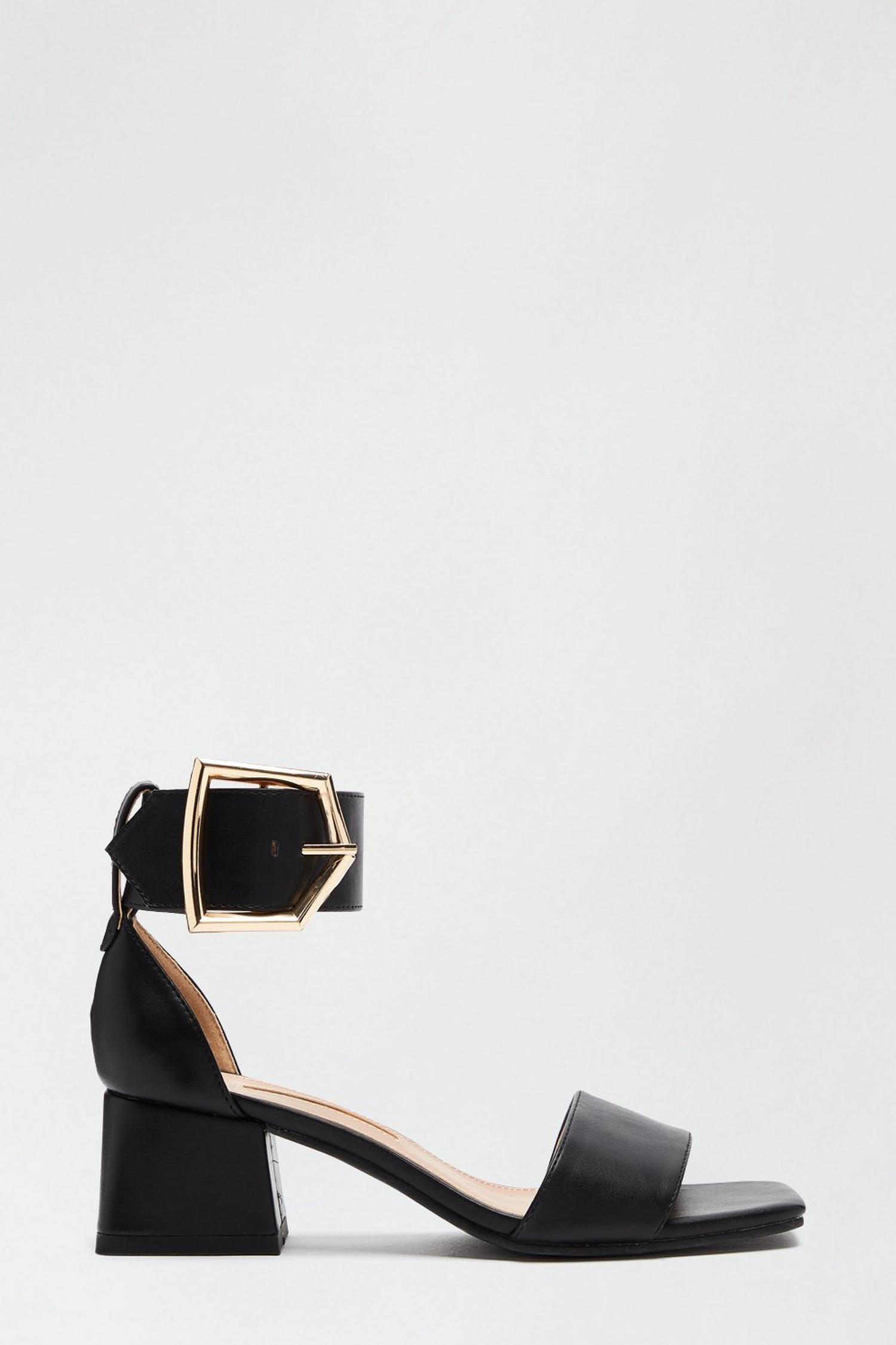 105 Black Saga Heeled Sandal image number 1
