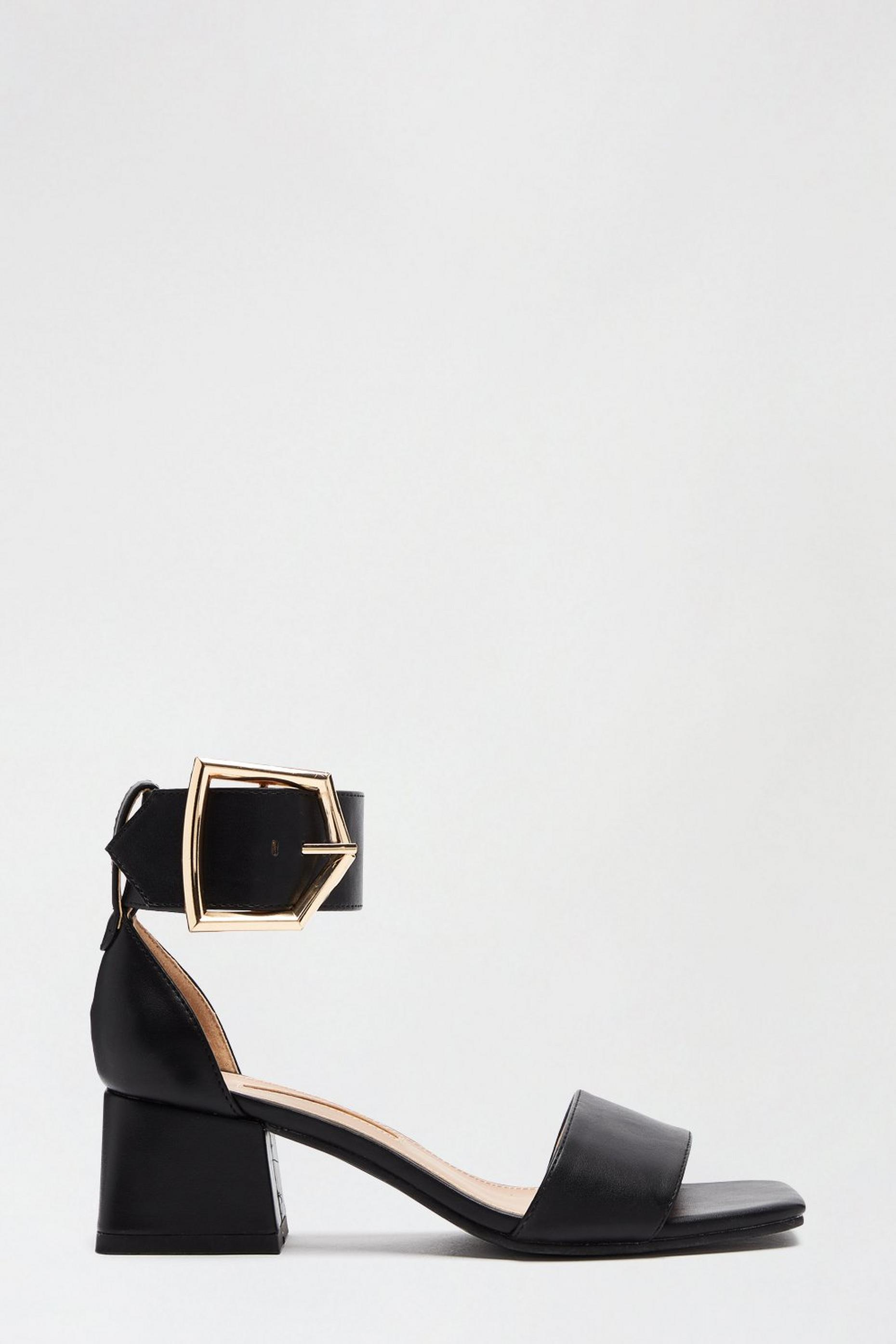 Black Saga Heeled Sandal