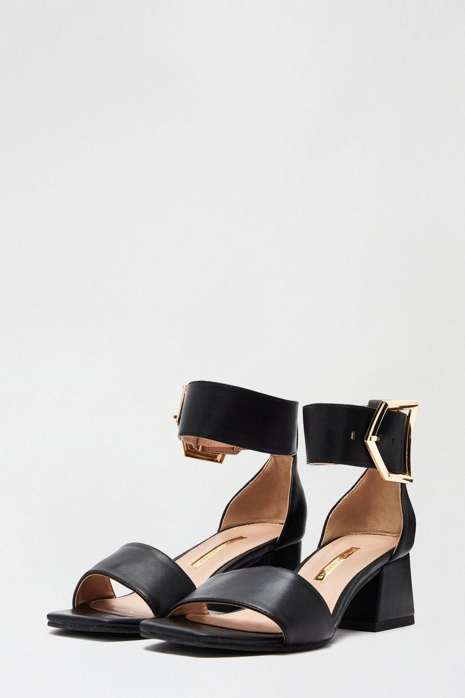 105 Black Saga Heeled Sandal image number 2