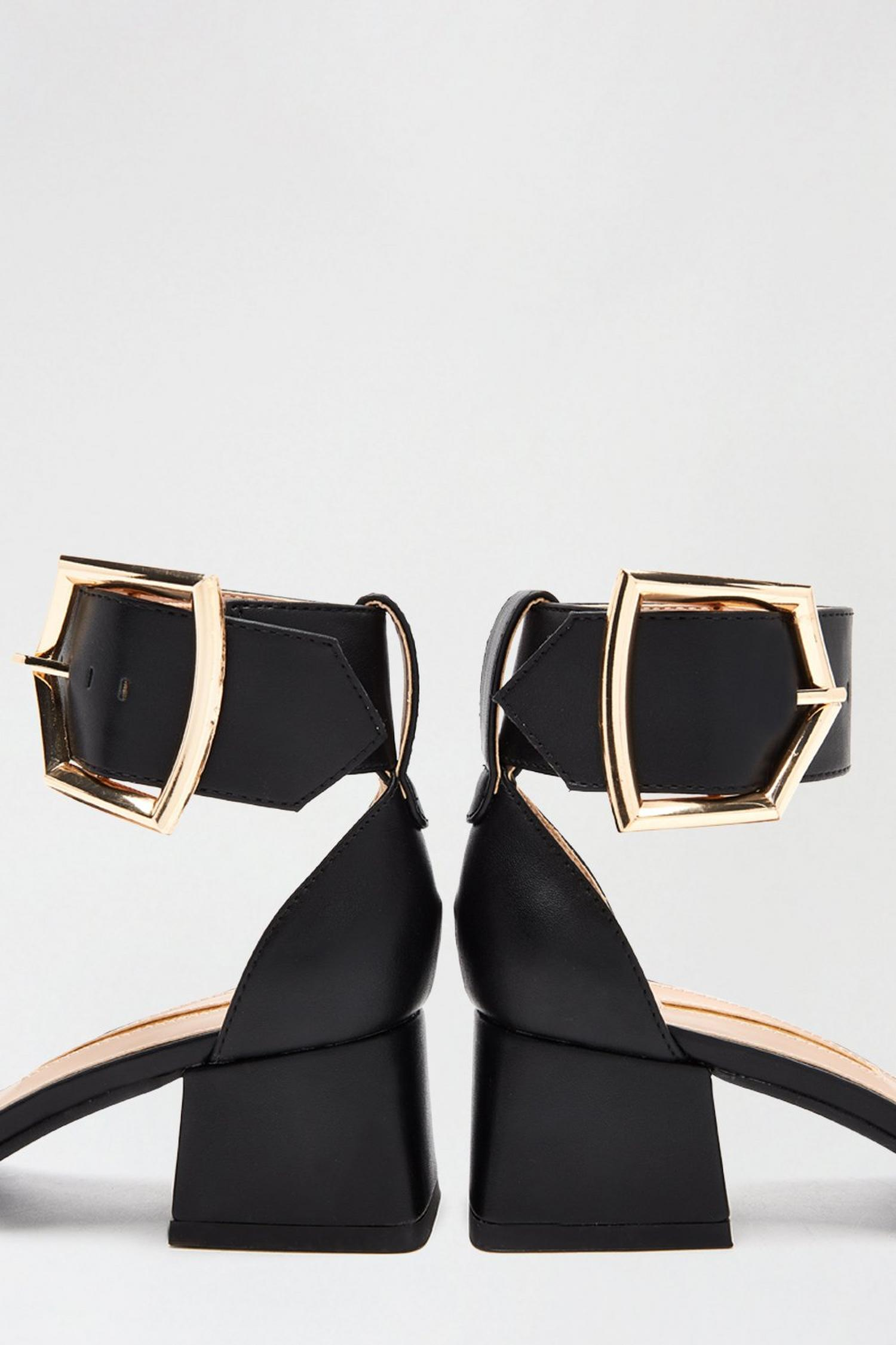 105 Black Saga Heeled Sandal image number 3