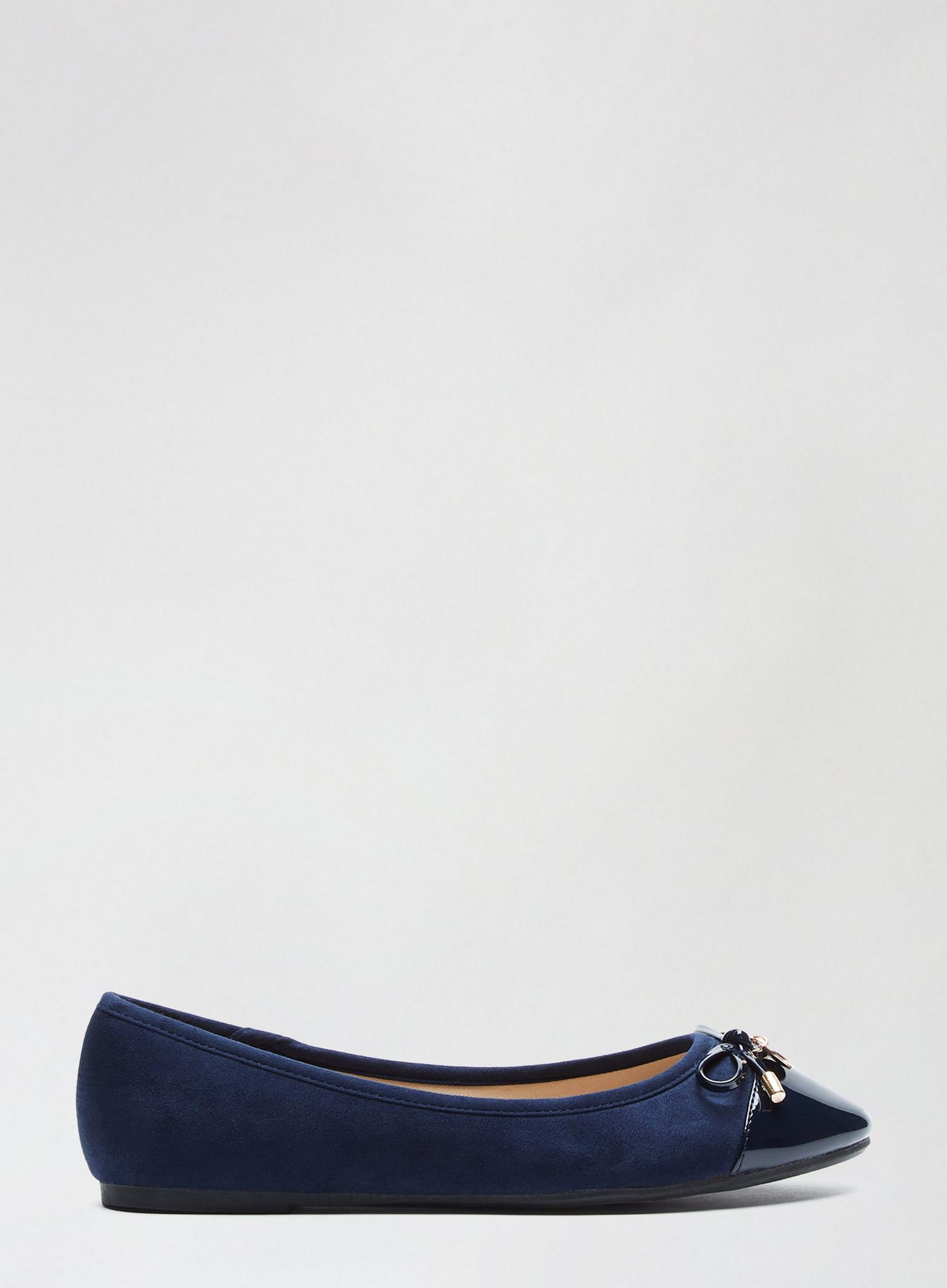 148 Wide Fit Navy Pacific Ballerina Pumps image number 4