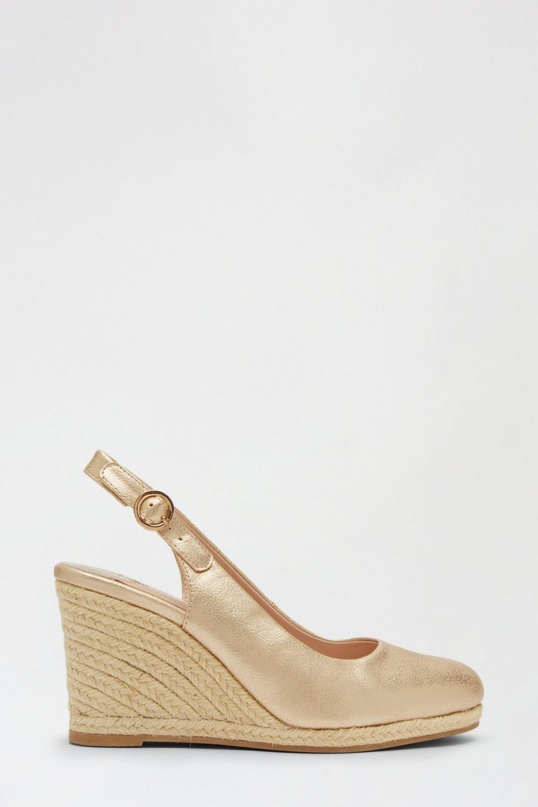 Wide Fit Gold Drifting Wedges