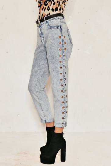 Blue Clare Eyelet Jeans
